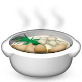 Soup with steam emoji