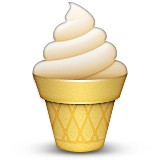 Ice cream in a cone emoji