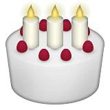 Birthday cake with three candles emoji