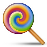 Swirl lollipop emoji
