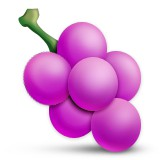Purple grapes emoji