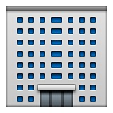 Grey office building emoji