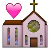 Wedding chapel emoji