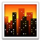 Skyline at dusk emoji