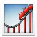 Roller coaster emoji