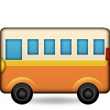School bus emoji