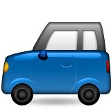 Blue car emoji
