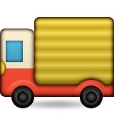 Delivery truck emoji