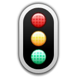 Vertical traffic light emoji