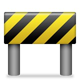 Black and yellow construction sign emoji