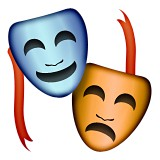 Performing arts masks emoji