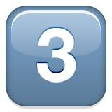 Number three emoji