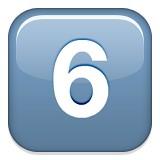 Number six emoji