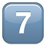 Number seven emoji