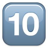 Number ten emoji