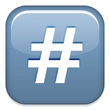 Number or pound sign or hashtag emoji