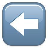 Left arrow emoji