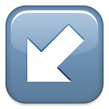Diagonal arrow down and left emoji