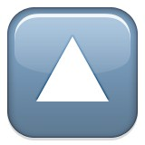 Triangle pointing up emoji