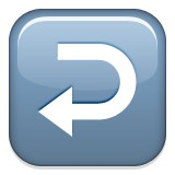 U-turn arrow pointing left emoji