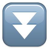 Double arrow pointing down emoji