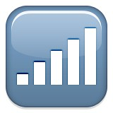 Signal bars emoji