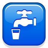 Water faucet and glass emoji