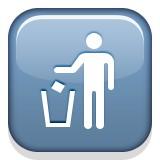 Person throwing out trash emoji