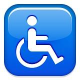 Handicapped symbol emoji