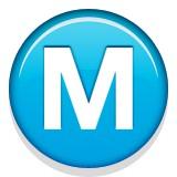 Capital letter M emoji