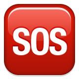 SOS or help message emoji