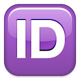 Capital letters ID emoji