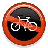 No bicycling emoji