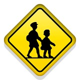 Child crossing emoji