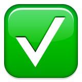 Check mark emoji