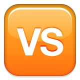 VS or versus emoji