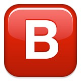 Capital letter B blood type B emoji
