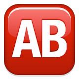 Capital letters AB blood type AB emoji