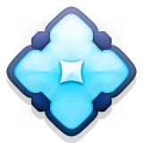 Diamond or flower shape emoji