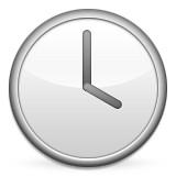 Clock at 4:00 emoji