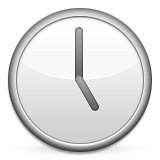 Clock at 5:00 emoji