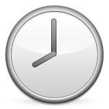 Clock at 8:00 emoji