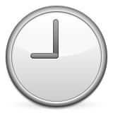 Clock at 9:00 emoji