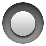 Grey circle emoji