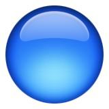 Blue circle emoji