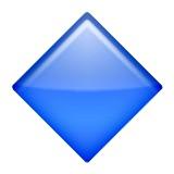 Blue diamond emoji